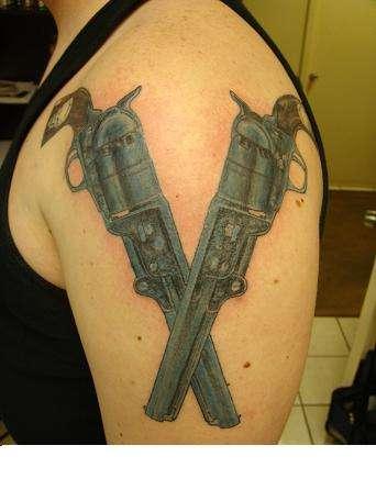 1847 .36 Caliber Naval Pistols tattoo