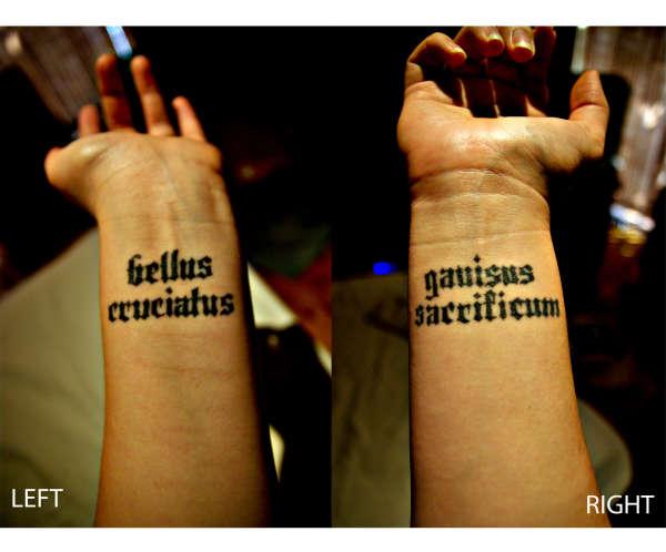 Latin Quote Tattoo