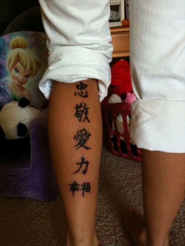 Chinese Symbols Tattoo