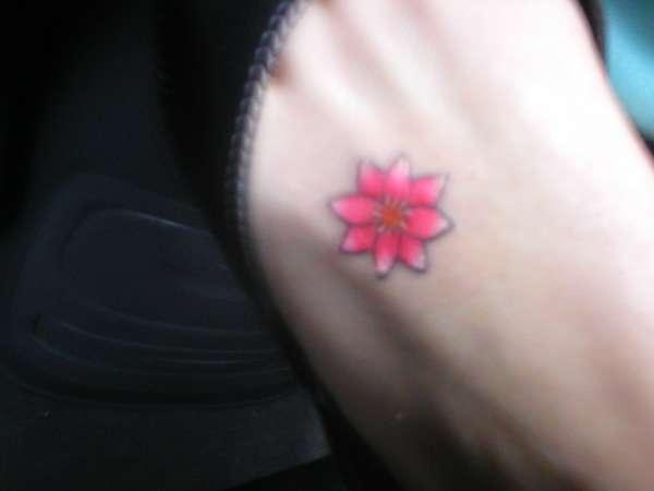 Flower on my foot tattoo