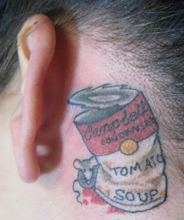 Campbell's Tomato Soup tattoo