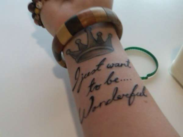 Marilyns quote tattoo