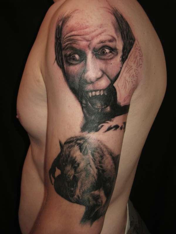 Bill nighy underworld portrait (unfinished) tattoo