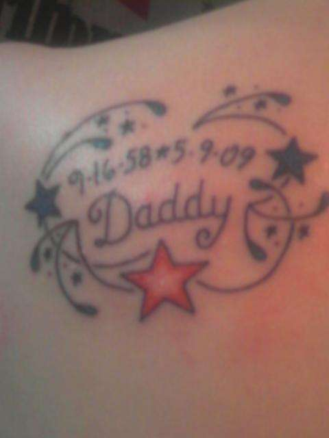 memory to my dad tattoo. Black Bedroom Furniture Sets. Home Design Ideas