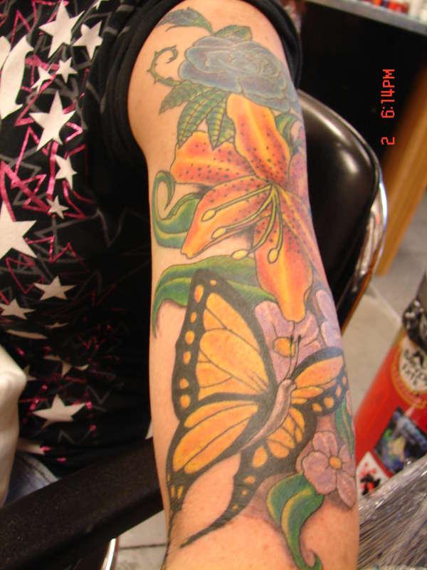 Girly sleeve tattoo for Girly arm sleeve tattoos