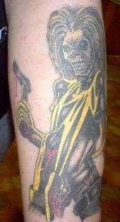 Iron Maiden Killers tattoo