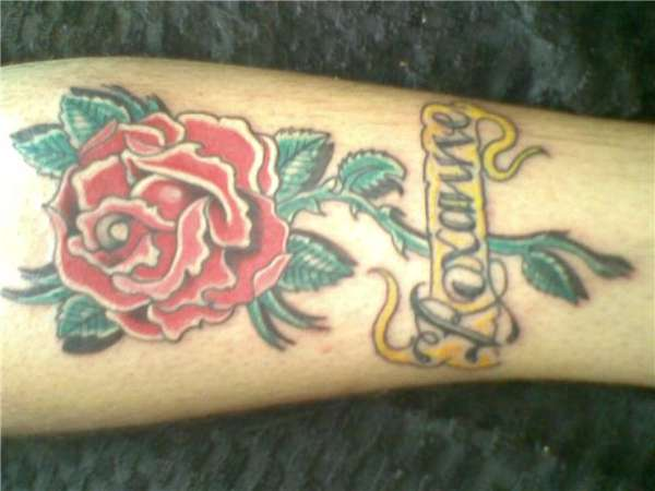 J's love for Rox by Rob Gillham tattoo