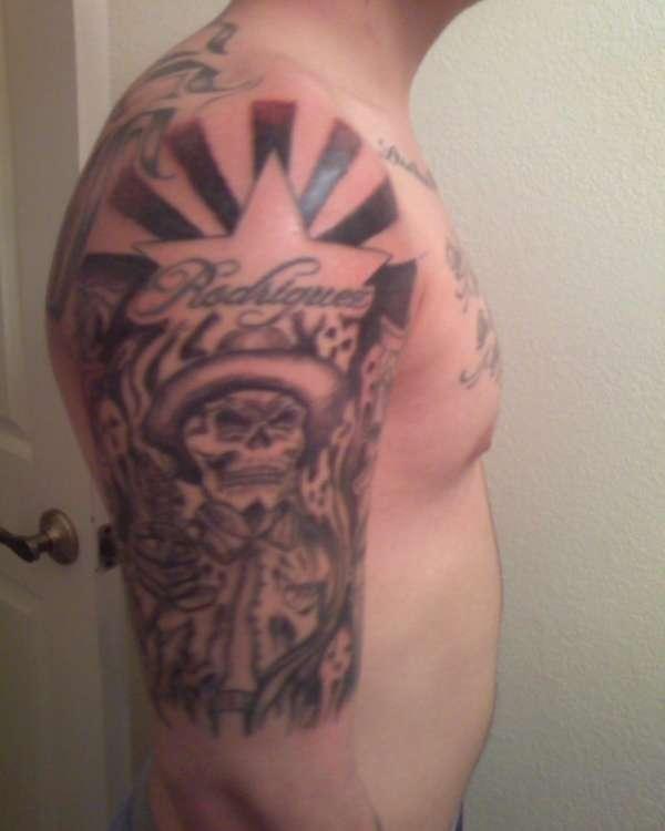 mexican skull arizona flag tattoo. Black Bedroom Furniture Sets. Home Design Ideas