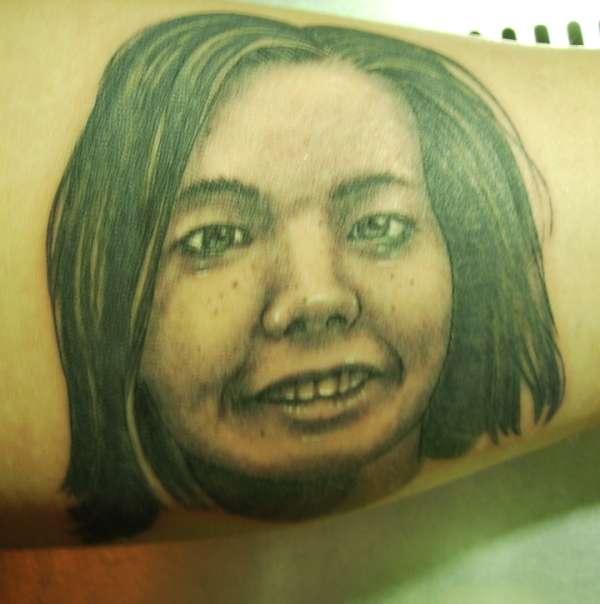 Bjork Portrait Tattoo