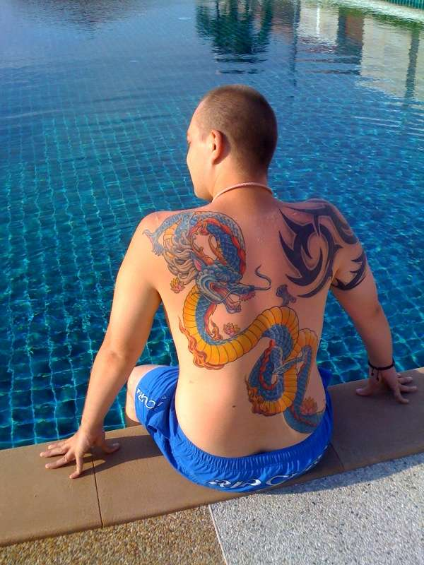 bluedragon tattoo