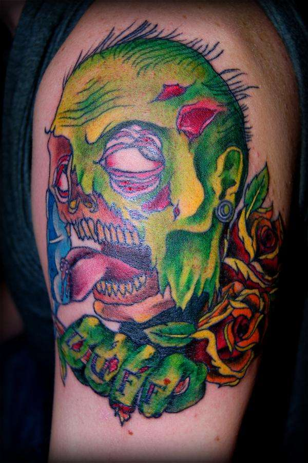 """""""Tuff"""" Zombie by Justin Craven @ Body Mods! tattoo"""