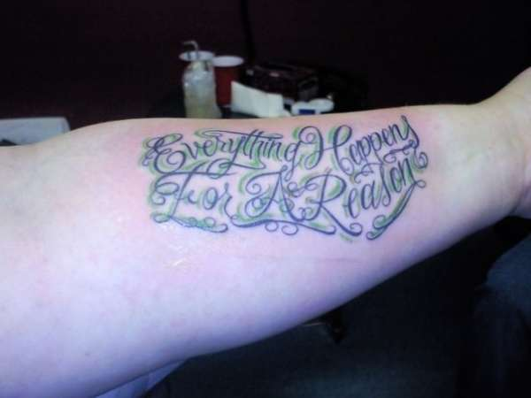 Happens for a reason tattoo everything happens for a reason tattoo urmus Image collections