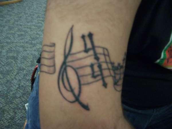 Musical Tribute tattoo