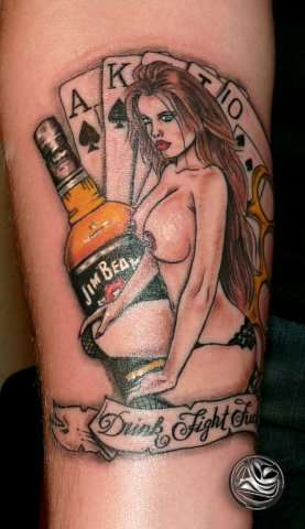Drink Fight Fuck tattoo