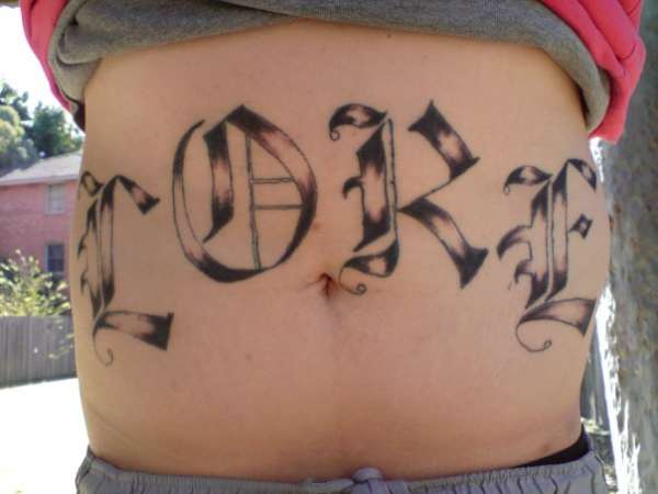 Family Name Loke tattoo