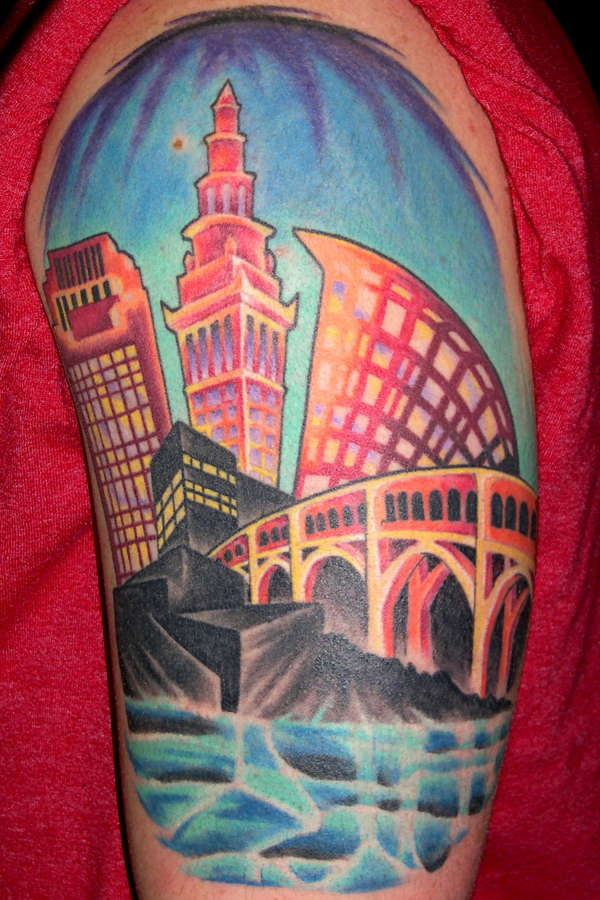 Cleveland skyline tattoo for Cleveland skyline tattoo
