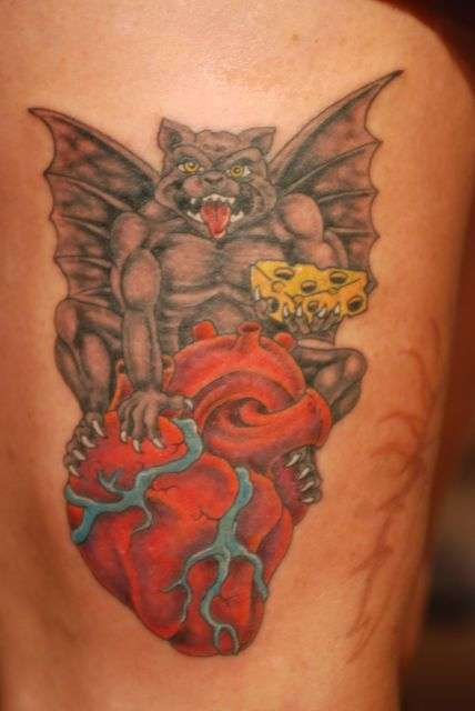 """Gargoyle"" my Heart Guardian tattoo"