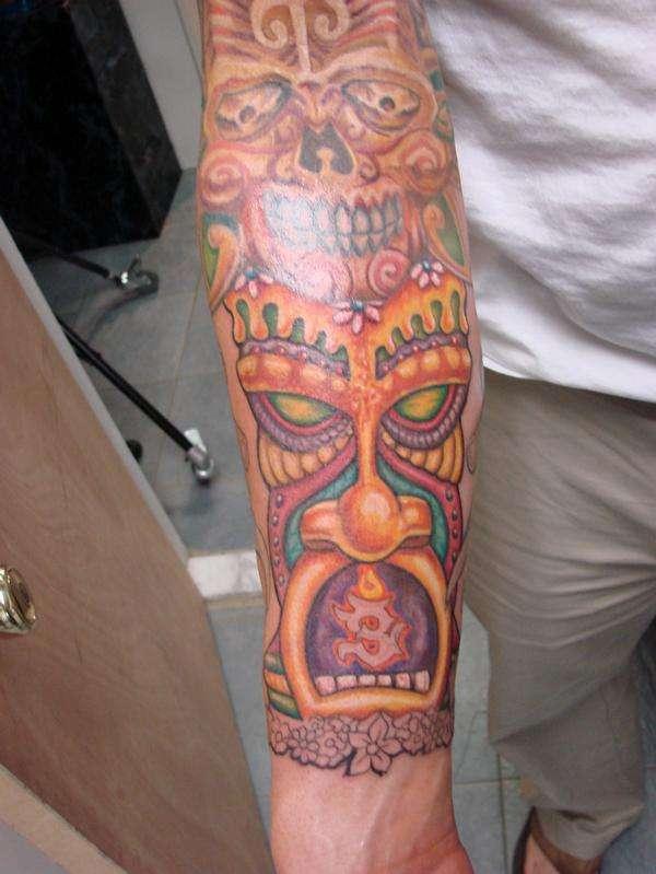 totem pole tattoo