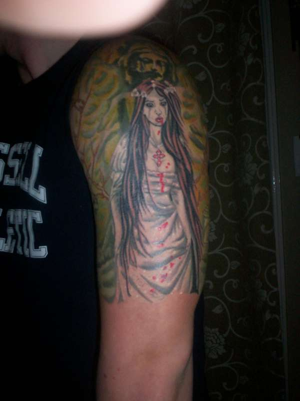 Victoria frances finished tattoo for Top tattoo victoria tx