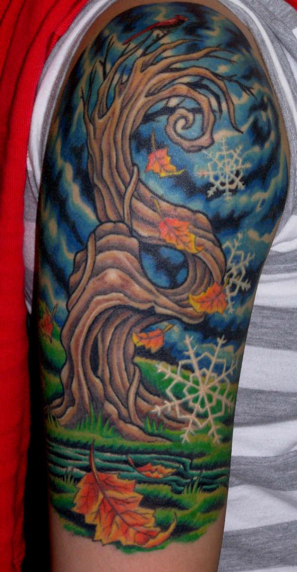 crazy tree tattoo