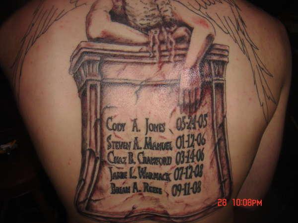 Rip baby angel tattoos