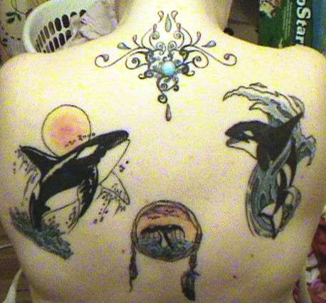 Whole view of my upper back.... tattoo