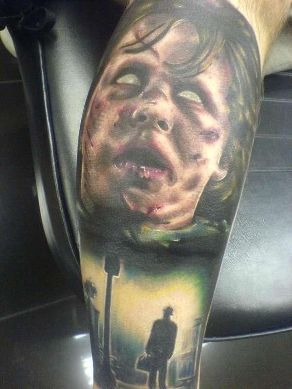 Exorcist sleeve tattoo portrait tattoo