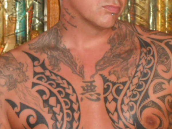 maori chest tattoo