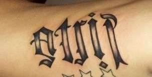 Lettering(ambigram) tattoo