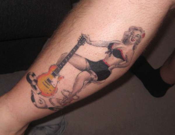 Guitar Girl tattoo