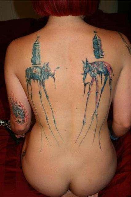 dali elephants tattoo
