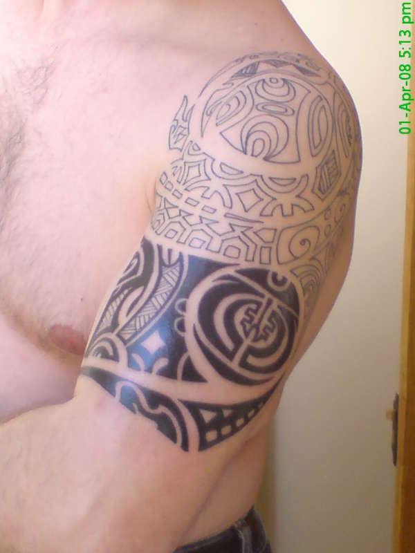 first section done. tattoo