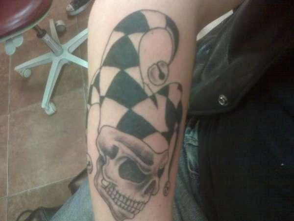 Husband's newest ink...1st session tattoo