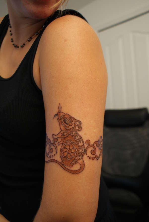 Zodiac Year of the Rat Tattoo (1) tattoo