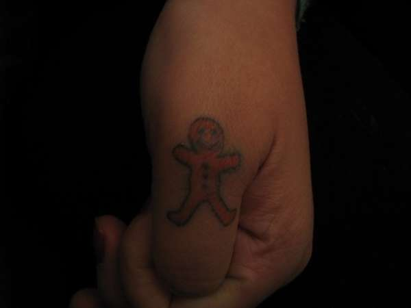 gingerbread man tattoo