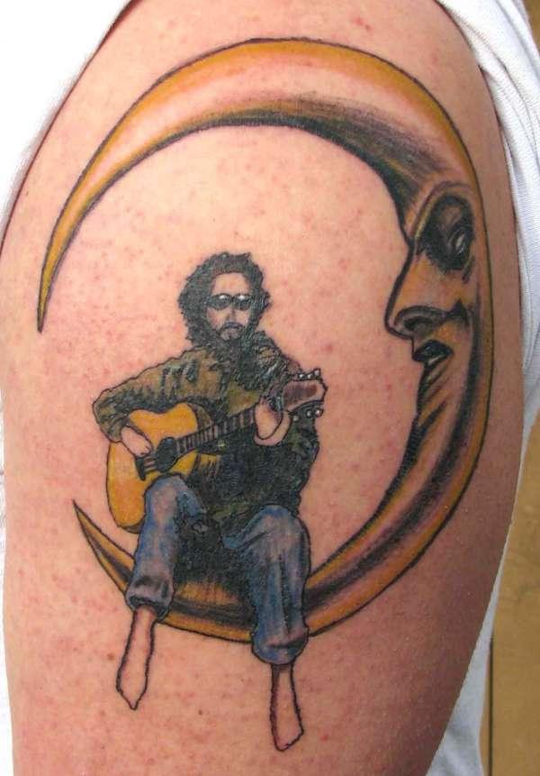 man on the moon tattoo