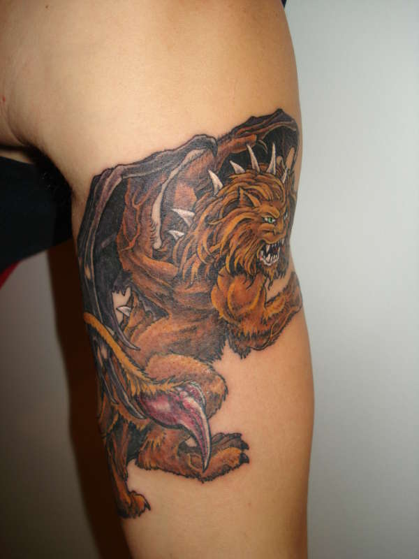Greek Mythical Manticore tattoo
