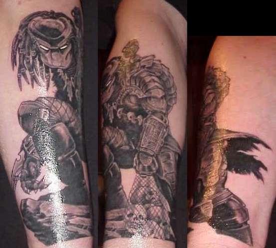 Predator (Freshly done) tattoo