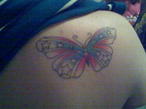 confederate butterfly tattoo