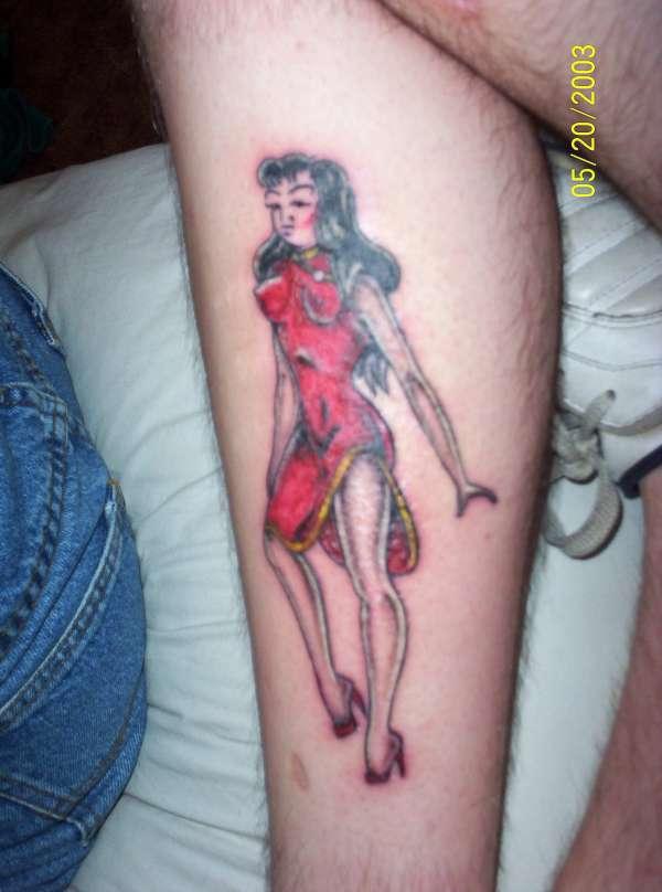 Sailor jerry pinup girl tattoo for Sailor jerry pin up tattoos