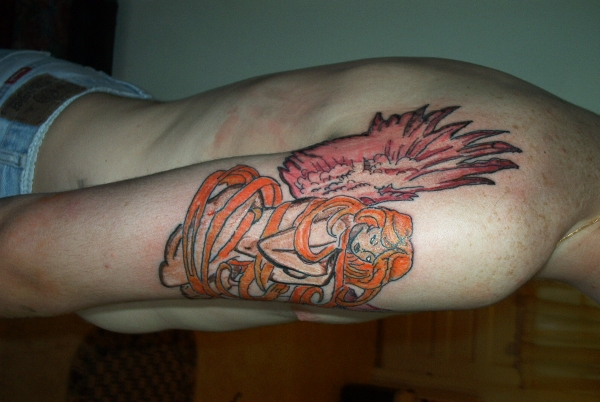 A guardian angel on my arm tattoo