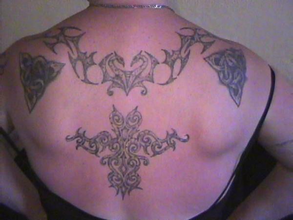 celtic back tattoo