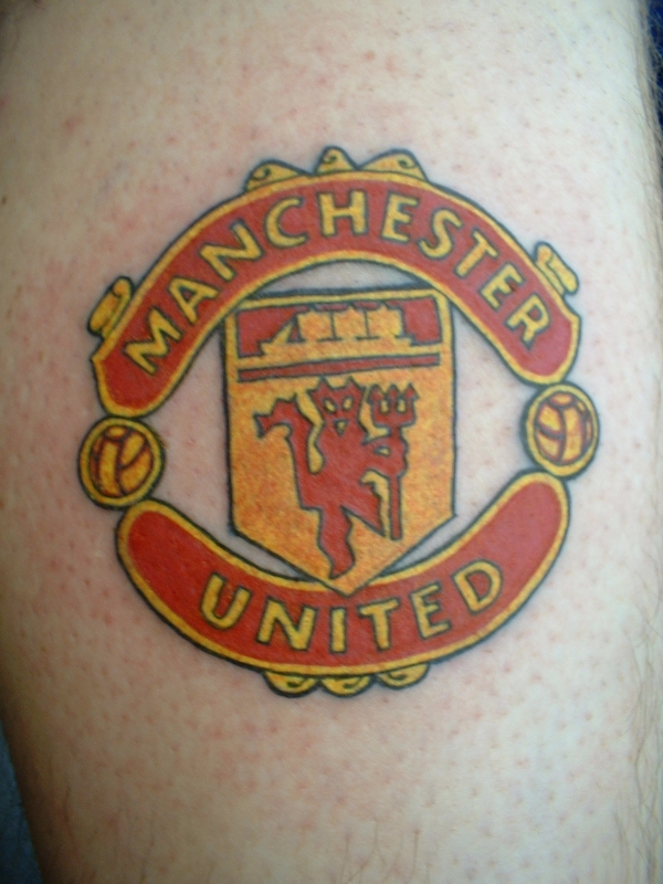 manchester united badge tattoo. Black Bedroom Furniture Sets. Home Design Ideas