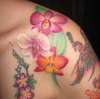 Orchids from Hawaii tattoo