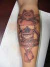 military skull memorial tattoo