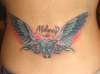 Butterfly, Angel Wings, Daughters Name, Tribal tattoo