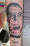 Christopher Lee/Dracula tattoo