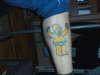 H.J Simpson tattoo