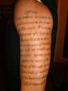 lettering tattoo