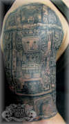 Aztec half sleeve tattoo